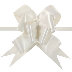 Pull String Butterfly Bows - Ivory