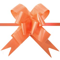 Pull String Butterfly Bows - Orange