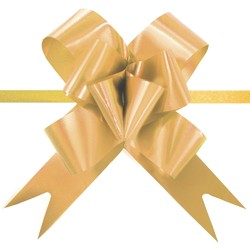 Pull String Butterfly Bows - Gold