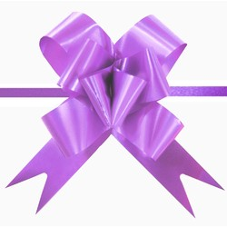 Pull String Butterfly Bows - Purple