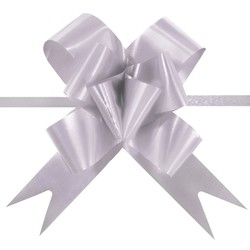 Pull String Butterfly Bows - Silver infused with Lavender