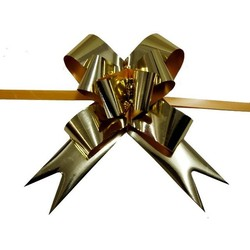 Pull String Butterfly Bows - Metallic Gold