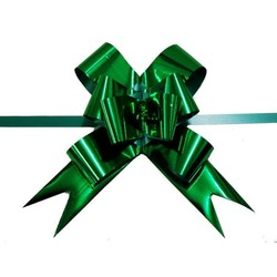 Pull String Butterfly Bows - Metallic Emerald