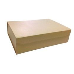 Rigid Box with Magnetic Closing Lid - Medium Rectangle - Kraft Brown (LIMITED STOCK!)