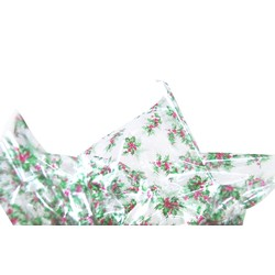 Cello Sheets - 70cm x 100cm - 100 Sheets - Christmas Holly