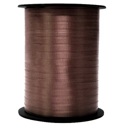 Crimped Curling Ribbon 5mm x 457m - Chocolate Brown