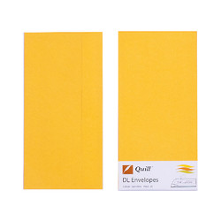 Yellow DL Envelopes - Pack of 25 - 80gsm by Quill