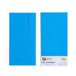 Marine Blue DL Envelopes - Pack of 25 - 80gsm by Quill