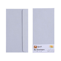 Grey DL Envelopes - Pack of 25 - 80gsm by Quill