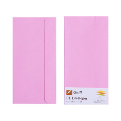 Light Pink DL Envelopes - Pack of 25 - 80gsm by Quill