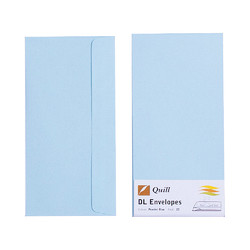 Light Blue DL Envelopes - Pack of 25 - 80gsm by Quill