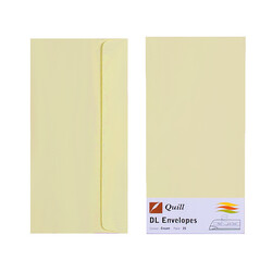 Cream DL Envelopes - Pack of 25 - 80gsm by Quill