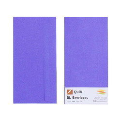 Lilac DL Envelopes - Pack of 25 - 80gsm by Quill