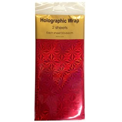 Holographic Foil Wrap - 2 Sheet - Red