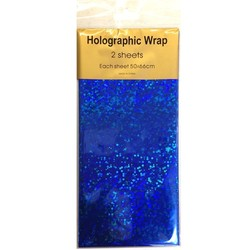Holographic Foil Wrap - 2 Sheet - Royal Blue