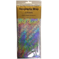 Holographic Foil Wrap - 2 Sheet - Silver
