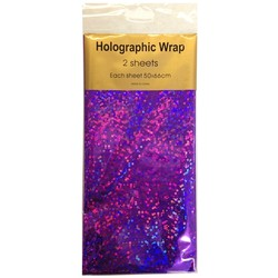 Holographic Foil Wrap - 2 Sheet - Violet