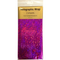 Holographic Foil Wrap - 2 Sheet - Hot Pink