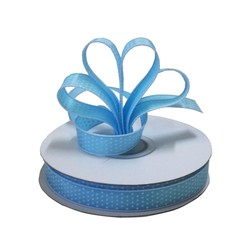 Dots Ribbon - 12mm x 25M - Blue with white spots