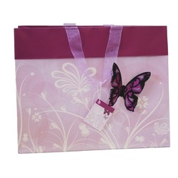 Butterfly Bag with 3D flocked butterfly - Lavender