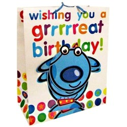 Gift Bags 'Great Birthday' Dog - Medium