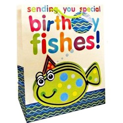 Gift Bags 'Birthday Fishes'  - Medium