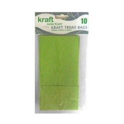 Kraft Treat Bags - 10pcs - Green (Without Handles)