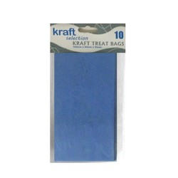 Kraft Treat Bags - 10pcs - Blue (Without Handles)