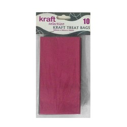 Kraft Treat Bags - 10pcs - Pink (Without Handles)
