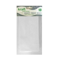 Kraft Treat Bags - 10pcs - White (Without Handles)