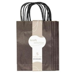 Medium Kraft Gift Bags - 5 Pack Black
