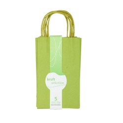 Small Kraft Gift Bags - 5 Pack Green