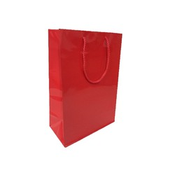 Gift Carry Bags - Glossy Red - Medium/Large