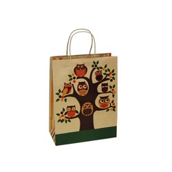 Kraft Bags - Medium - Owls