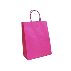 Kraft Bags - Medium - Hot Pink