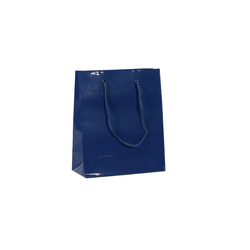 Gift Carry Bags - Glossy Navy Blue - Small/Medium