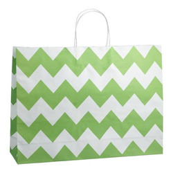 Kraft Bags - Boutique - Chevron - Green