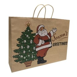 Kraft Bags - Father Christmas - Boutique - Brown