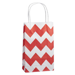 Kraft Bags - Small - Chevron - Red