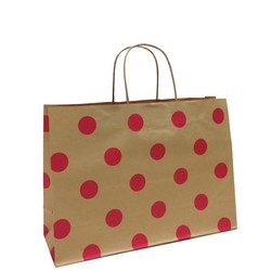 Kraft Bags - Small Boutique - Red Dots