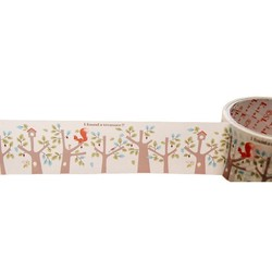 50mm x 15m - Decorative Tape - Wood house