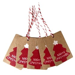 25 x Kraft Christmas Gift Tag - Xmas Tree