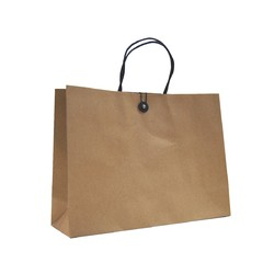 Kraft Bags - Premium Kraft Brown Bags with Cotton String & Button Closure - Small Boutique