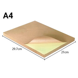 100 x 1 Sheet A4 Kraft Paper Self-Adhesive Sticker Labels Laser Print Paper