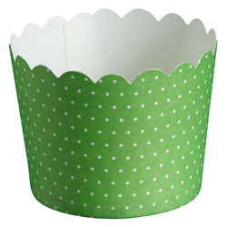 Paper Baking Cups - 24pcs - Dots - Green