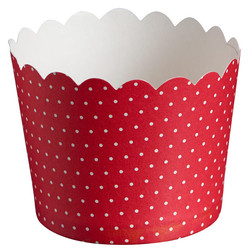 Paper Baking Cups - 24pcs - Dots - Red