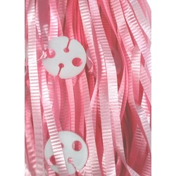 50pk Curling Ribbon & Seals - Light Pink