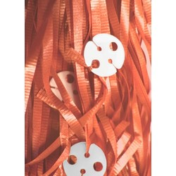50pk Curling Ribbon & Seals - Orange