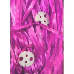 50pk Curling Ribbon & Seals - Hot Pink