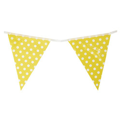 3.6m Flag Bunting - Polka Dots - Yellow